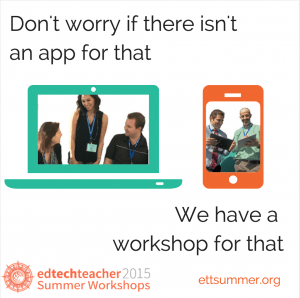 Workshop for That, EdTechTeacher Summer Workshops