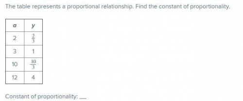 The table represents a proportional relationship. Find the