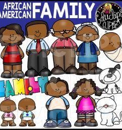 african american family clip art  [ 2100 x 2089 Pixel ]