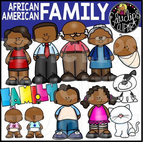 small resolution of african american family clip art