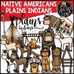 Native Americans Plains Indians Clip Art Bundle Color And B W Edu Clips