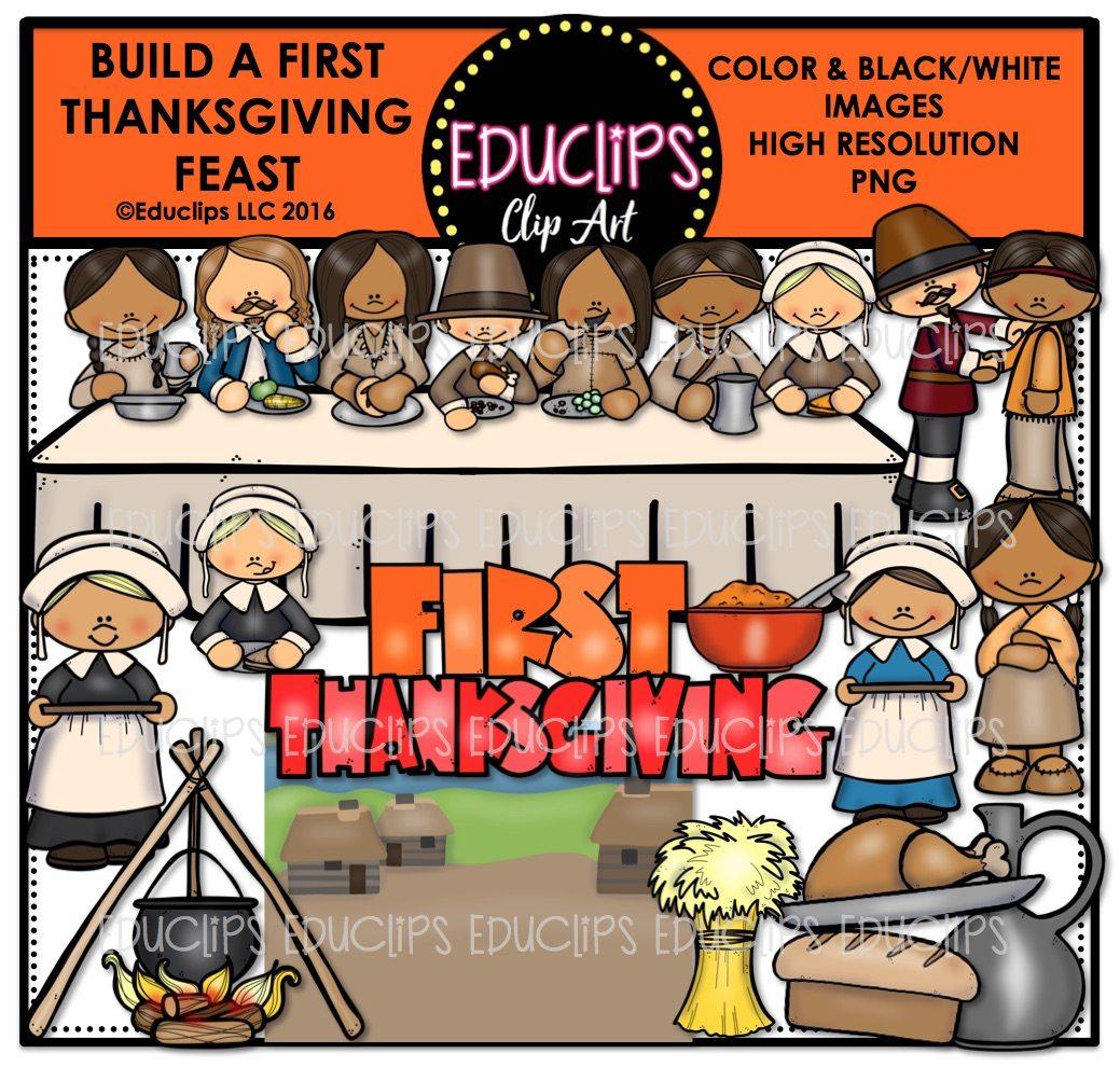 Build A Thanksgiving Feast Clip Art Bundle Color And B Amp W
