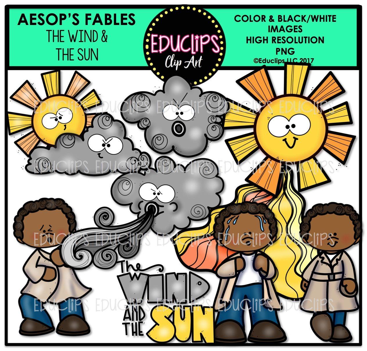 Aesop S Fables 2 Clip Art Mega Bundle Color And B Amp W