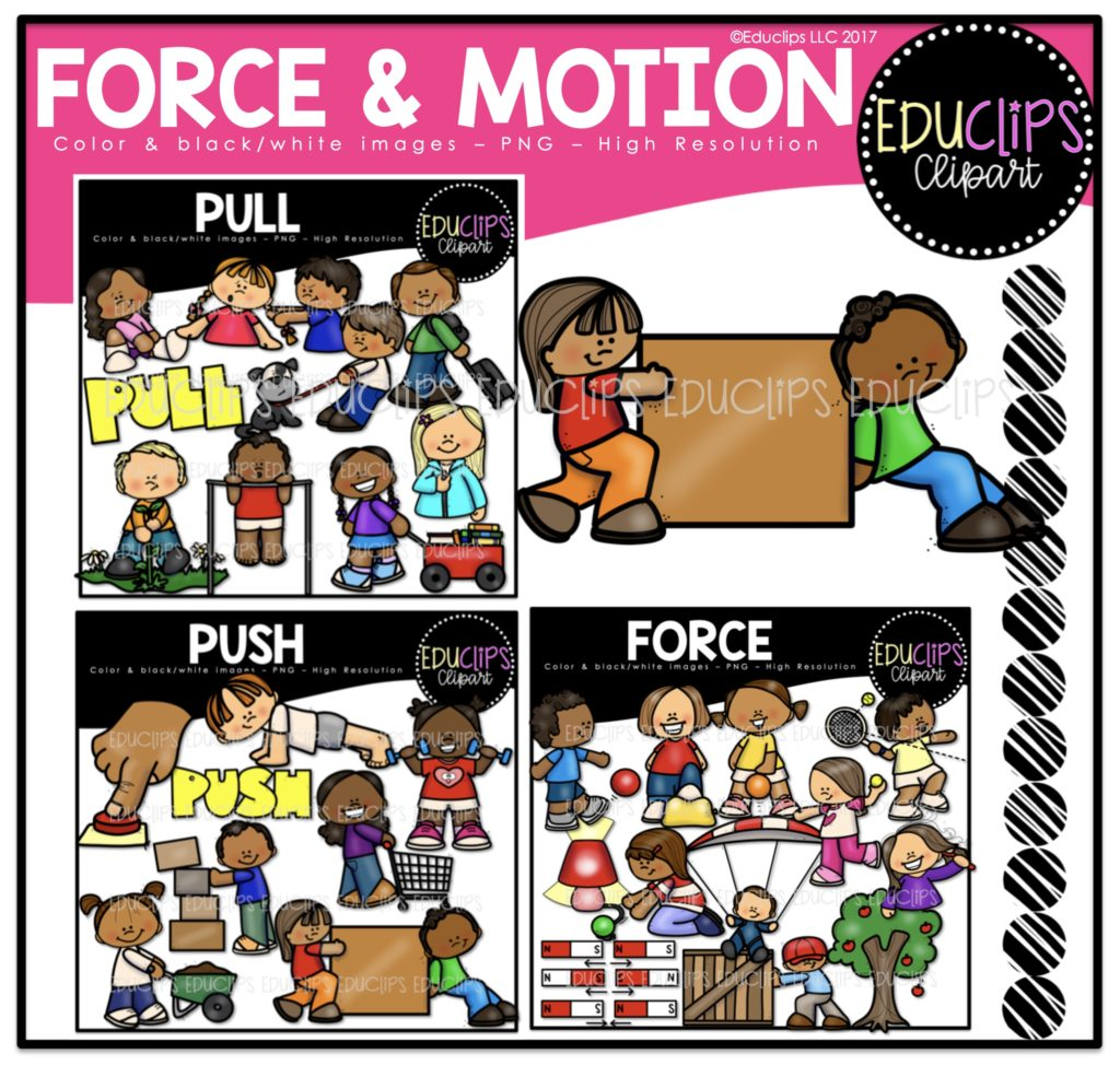 Force Amp Motion Clip Art Bundle Color And B Amp W