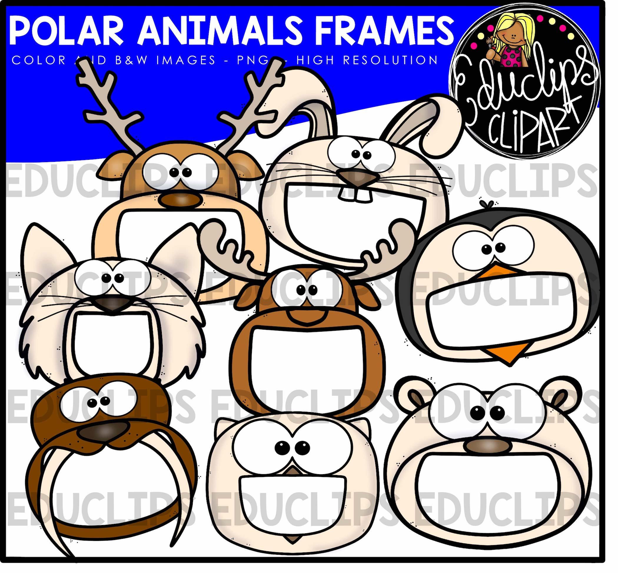 Animal Frames Clip Art Big Bundle Color And BampW