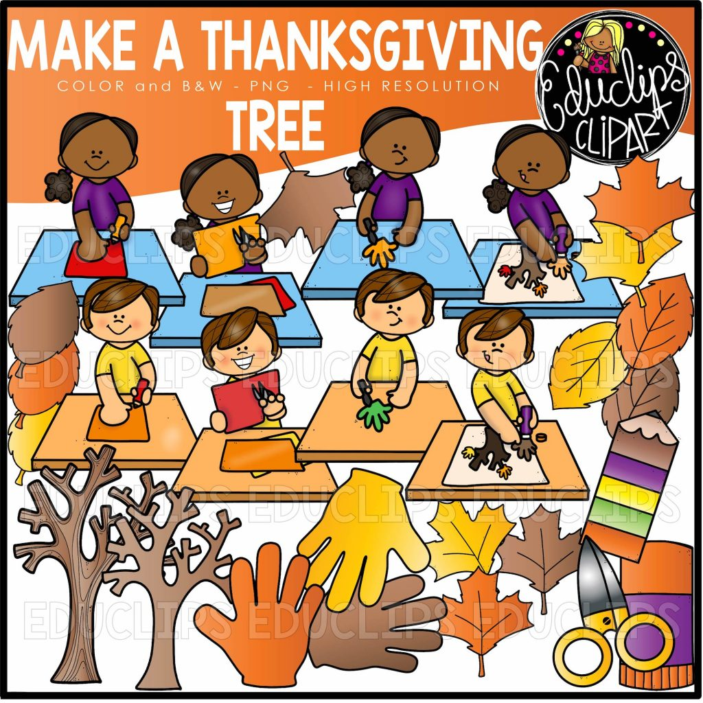 Make A Thanksgiving Tree Clip Art Set
