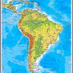 GHC13F harta america de sud fizica