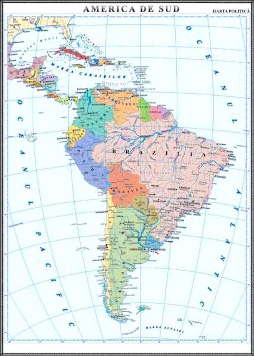 GHC13P harta america de sud politica
