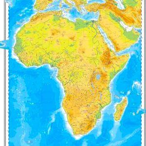 GHC16F harta africa fizica