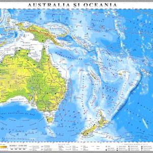 GHC19F harta australia si oceania fizica