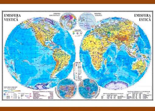 GHL1F planiglobul harta emisferelor