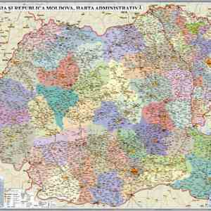 GHR5CDG harta romania si r moldova administrativa 35002400 materiale didactice geografie harti murale