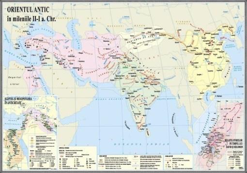 IHA4 Materiale didactice istorie harti murale HARTA ORIENTUL ANTIC
