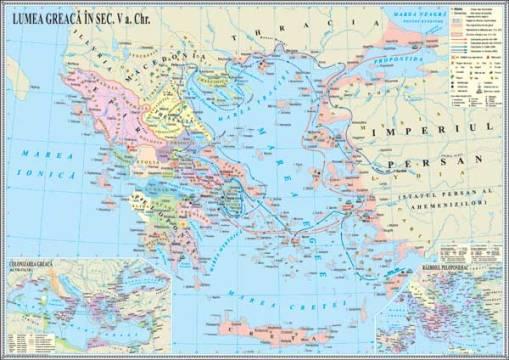IHA5 Materiale didactice istorie harti murale HARTA LUMEA GREACA IN ANTICHITATE