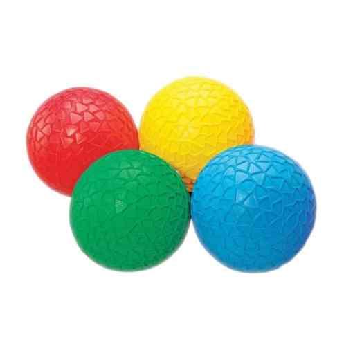 mingi colorate senzoriale cu texturi tickit set de 4 mingi multicolor