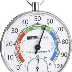 70231 termohigrometru analogic de perete argintiu tfa 452027