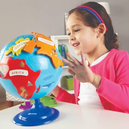 interactive puzzle globe 6