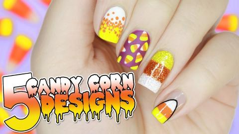5 Easy Candy Corn Nail Designs For Art Tutorial
