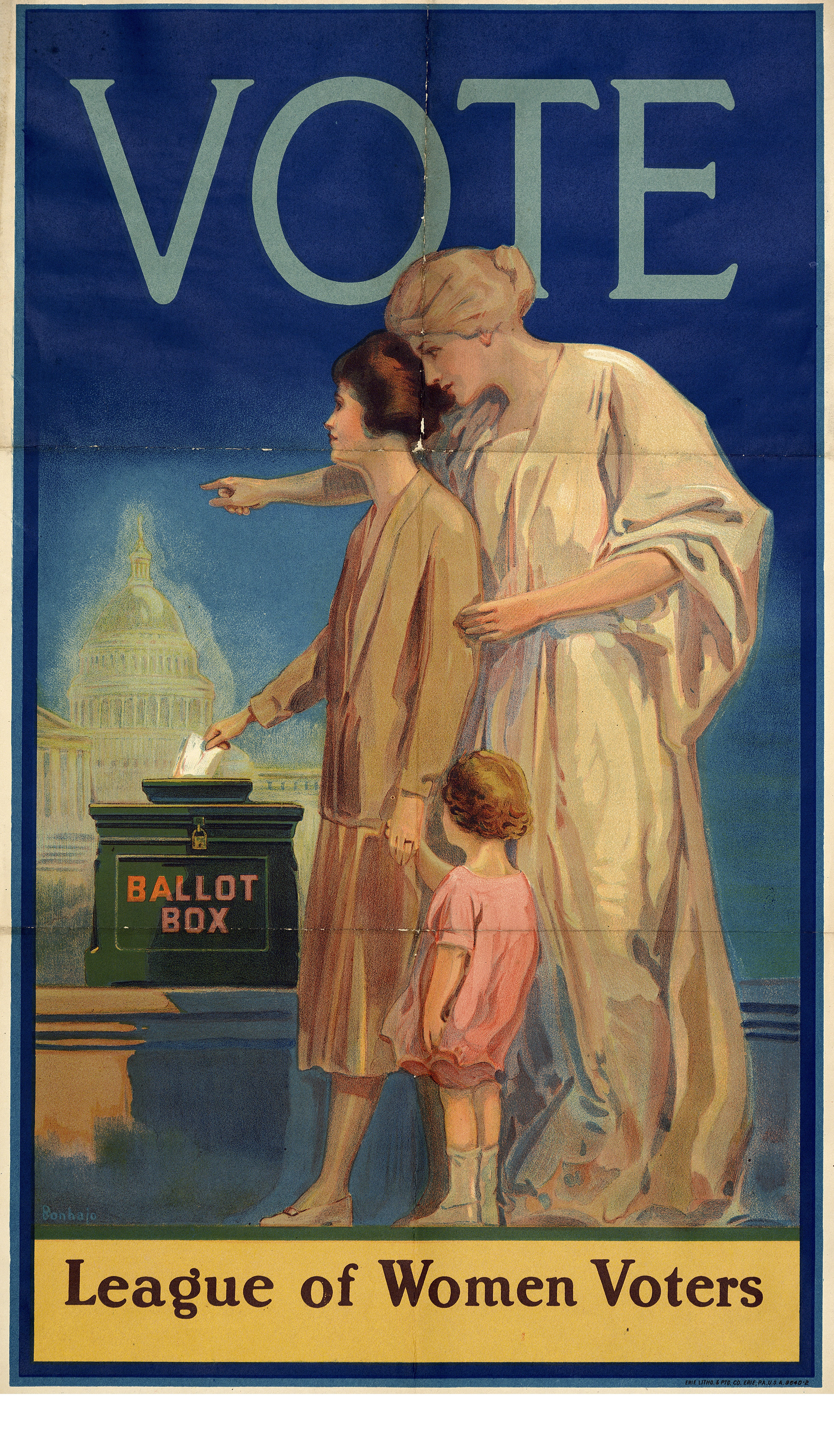 League of Women Voters Poster 1920  Document Bank of Virginia