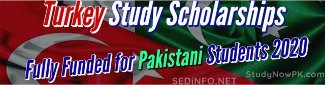 Turkey Study Scholarships Fully Funded for Pakistani Students 2020