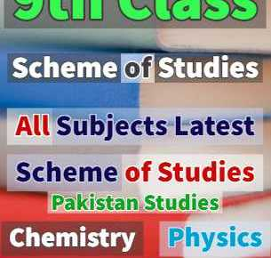 9th class all books scheme of studies