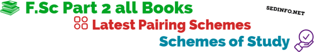 FSc second year all books scheme of studies cover