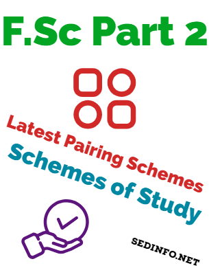 Punjab Boards FSc 12th Pairing Scheme of Studies all Subjects