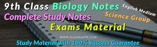 Download 9th Class Biology Notes English Medium of All Chapter