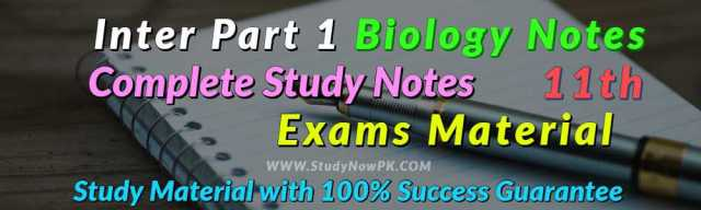 Download Biology Notes FSc 1st Year Complete Book Notes