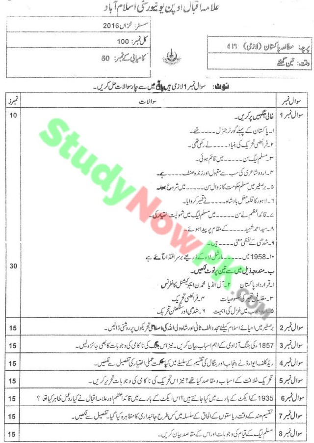 aiou-code-417-BEd-Past-Papers-Autumn-2016