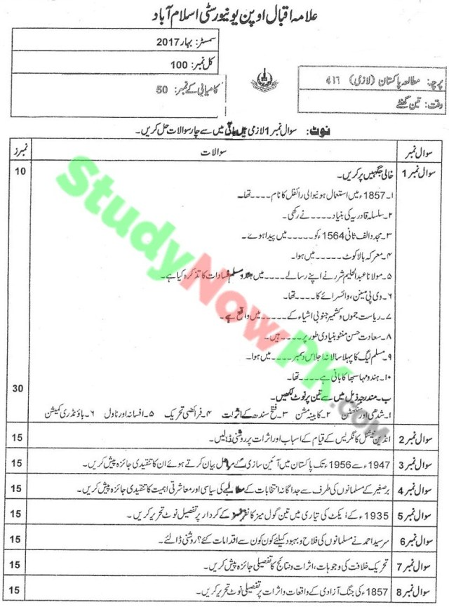 aiou-code-417-BEd-Past-Papers-Spring-2017