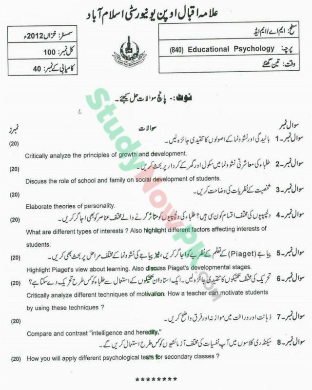 AIOU-MEd-Code-840-Past-Papers-Autumn-2012