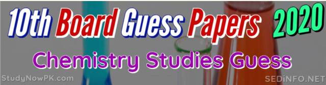 10th Chemistry Guess Papers with Sure Success Latest
