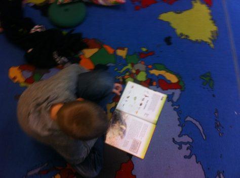 Læsning på læringstæppet