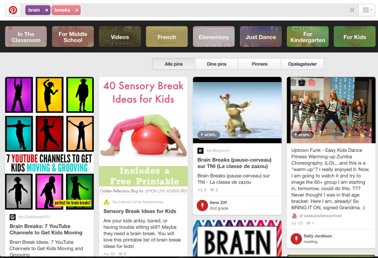 pinterest brain breaks