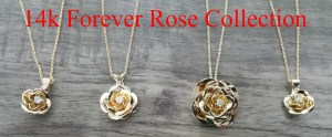 Gold Roses Pendants