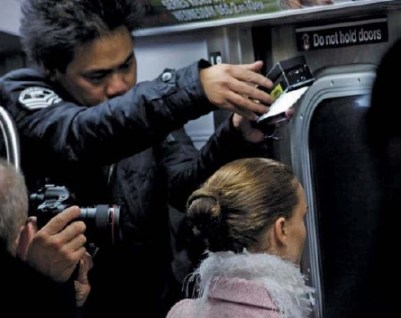 Director of Photography Matthew Libatique shooting Black Swan with the Canon 7D in New York's subway.