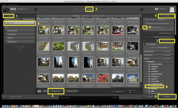 Importing Images step by step tutorial