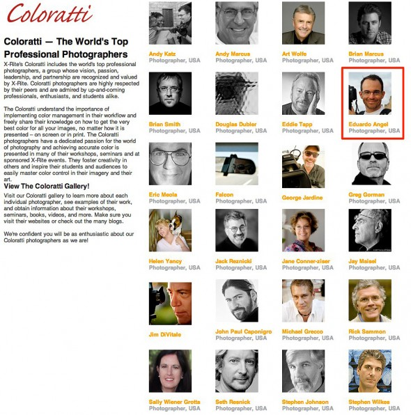 World's top professional photographers and color experts.