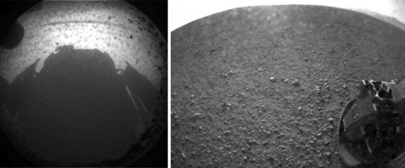 Mars Curiosity Rover Images, Back and Front