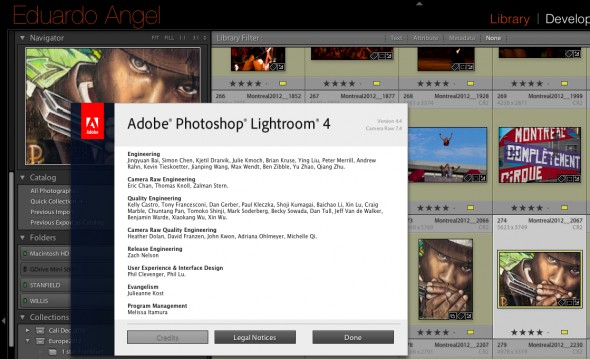 Adobe Lightroom 4.4 update