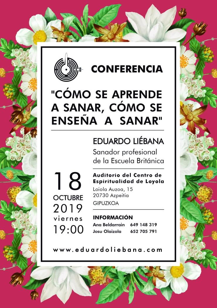 2019 Conferencia Eduardo Liébana Sanador Profesional de la Escuela Británica Guipuzcoa 2