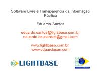 Software Livre e Transparência da Informação Pública