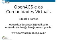 OpenACS_e_as_Comunidades_Virtuais(2)