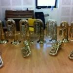 La clase de tuba del Conservatorio de Gijón