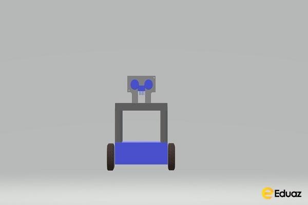 Social distancing monitoring robot
