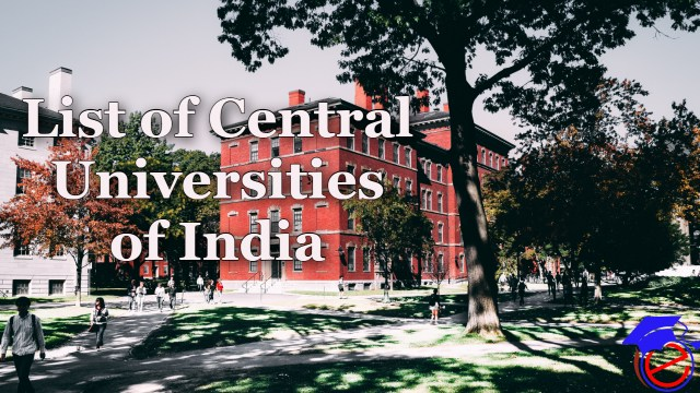 List of Central Universities of India 2021