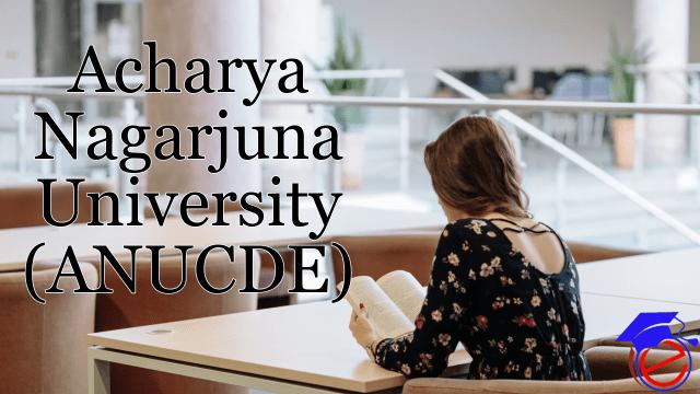 Acharya Nagarjuna University (ANUCDE)