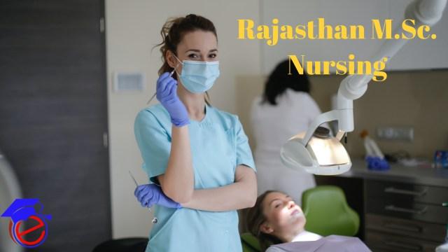 Rajasthan M.Sc. Nursing 2021