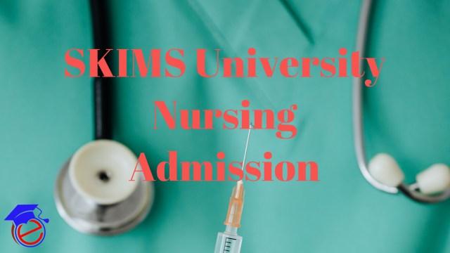 SKIMS University B.Sc. Nursing